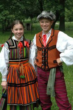 REGIONAL DRESS FROM OPOCZNO - Poland