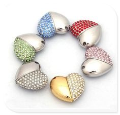 diamond crystal heart usb flash drives thumb pendrive u disk usb creativo  memory stick 4GB 8GB 0c12b1b7e4