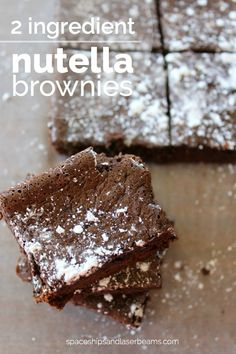 I think it's always good to have ingredients on hand for a few easy dessert ideas and that's especially true during the holidays. We're all so busy anyways and then if a shopping trip lasts longer than anticipated and there isn't time to prepare what you had planned... #brownies #dessert #featured