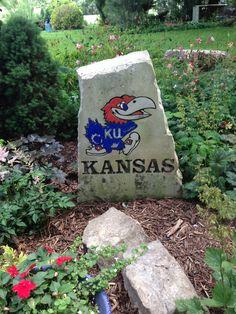 Kansas Jayhawks KU garden stone