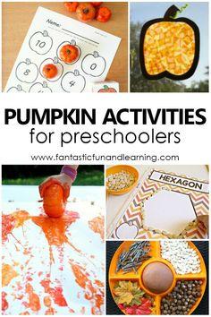 Pumpkin Activities and Lesson Plans for Preschoolers #lessonplans #preschool #pumpkins
