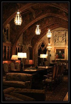 Hearst Castle (45 minutes from my home town in Cali)... or awesome home for a vampire!!!  lol
