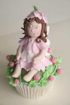 Cupcake fairy cake topper