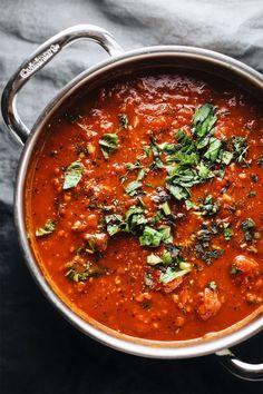 Amazing San Marzano Tomato Sauce - a famous family recipe that is the BEST tomato sauce you will ever have!   asimplepalate.com #pasta #tomatosauce #marinarasauce #pastasauce #tomato #herbs #italian