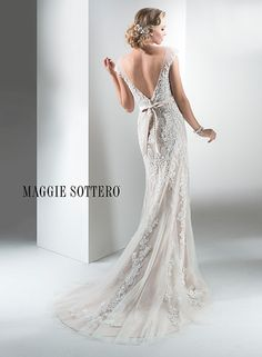 Lucinda - by Maggie Sottero. In Stock, Sample Size 10, Ivory over Mocha. Bridals by Elena 331 Gambrills Rd Gambrills MD 21054. 410-923-2881