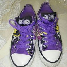 01139073b7400e Converse All Star Chuck Taylor Batman Catwoman Size 5 Men s   7 Women s EUC.