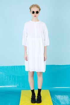 Textured Round Collar Smock Dress White http://www.thewhitepepper.com/collections/dresses/products/textured-round-collar-smock-dress-white