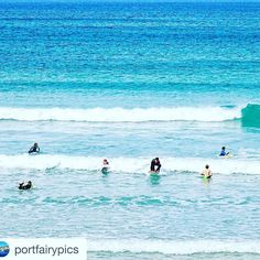 Nice day for a surf in Port Fairy! #portfairysurf #portfairy #beachhouseforrent #sleeps9 #everythingyouneed #familygetaway #greatoceanroad #warnambool  We love your work @portfairypics thanks for doing it!  by portfairyhouse