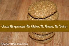 Chewy Gingersnaps from Keeper of The Home are soft and chewy, with a nice balance of spicy and sweet flavor.  Gluten Free, Dairy Free, OAMC, Freezer Cooking