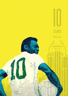 Pele - 11 Series: Soccer Illustrations by Ty Palmer Art Football, Soccer Art, Soccer Poster, Poster S, Football Stuff, Cosmos, Good Soccer Players, Sports Marketing, Soccer Skills