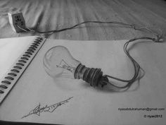 Amazing 3D Pencil Drawings Italian illustrator Alessandro Diddi erases the line between fiction and reality and makes his 3D drawings leap out of the sheet of paper. Description from pinterest.com. I searched for this on bing.com/images