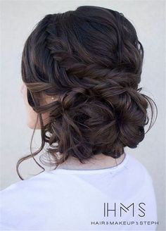 Wedding Hairstyles » Come and See why You Can't Miss These 30 Wedding Updos for Long Hair » Loose serpentine braids make this updo standout