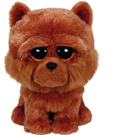 Ty Beanie Boos Barley - Brown Chow Dog 6""