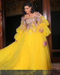 Ahlam Elshamsy in yellow dress 💛