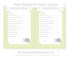 Pastel Lime Green Chevron  Baby Elephant Wishes for Baby Sheets
