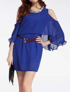 yourdress.co - False two dress chiffon Dress, USD18,00 (http://www.yourdress.co/false-two-dress-chiffon-dress/)