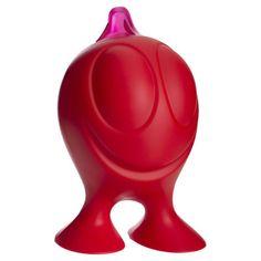 Alessi Gino Zucchino Sugar Castor in Red
