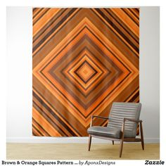 Shop Brown & Orange Squares Pattern Tapestry created by AponxDesigns. Tapestry Bedroom, Wall Tapestry, Orange Square, Your Perfect, New Room, Tapestries, Animal Print Rug, Squares, Abstract
