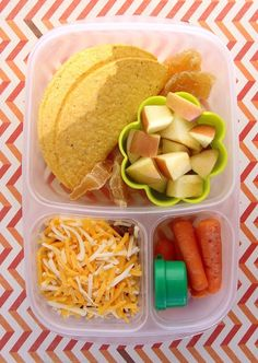 How to pack tacos for lunch! | packed in an #EasyLunchboxes container