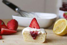 Lemon Cupcakes with Raspberry Jam Filling