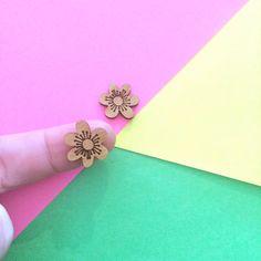 Spring Blossom Wooden Laser Cut Earring Supplies
