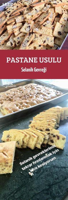 Pastane Usulu Selanik Gevreği Homemade Desserts, Cookie Desserts, Bon Dessert, Turkish Recipes, Creative Food, Cake Cookies, Biscotti, Food Art, Bakery