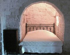 Bedroom, French Alcove Bedroom With White Bed Mattress: Great Inspiration of Designing Alcove Bed in Small Space Bed Tumblr, Alcove Bed, Fairytale Cottage, Wooden Bed Frames, Brick And Wood, Box Bed, Hearth And Home, Bed Mattress, Homes