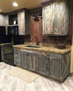 wood pallet kitchen