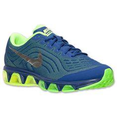 Men's Nike Air Max Tailwind 6 Running Shoes| Finish Line | Deep Royal Blue/Metallic Silver/Green