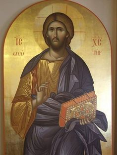 Excited to share this item from my shop: Hand painted Byzantine Icon Of Jesus Christ The Pantocrator Byzantine Icons, Byzantine Art, Religious Icons, Religious Art, Christ The Good Shepherd, Christ Pantocrator, Roman Church, Jesus Christus, Russian Icons