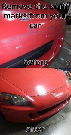 Scuff marks looks terrible and are difficult to remove. A normal wash and wax will not take care of most scuff and scratch marks.