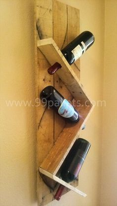 DIY Unique Pallet Wine Rack