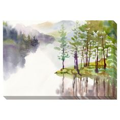 Mountain Calm Oversized Gallery Wrapped Canvas | Overstock.com Shopping - Top Rated Canvas