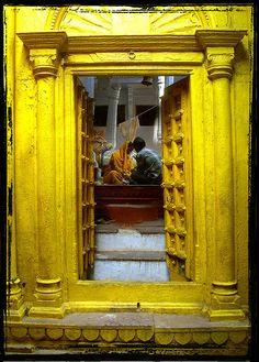 Yellow Temple Doors in India ~