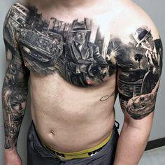 50 Gangster Tattoos For Men #mafia