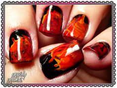 ✝✝✝Gnarly Gnails✝✝✝: Red Week on Fire!