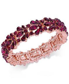 Charter Club Crystal Stone Stretch Bracelet, Only at Macy's - Jewelry & Watches - Macy's