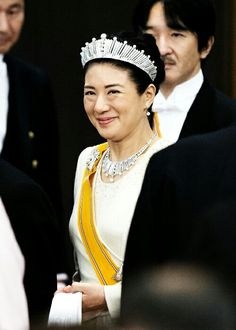 Crown Princess Masako of Japan in her first state banquet in 11 years! (10.29.2014)