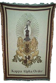 Licensed Kappa Alpha Order Fraternity Greek Blanket New | eBay