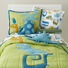 Kids' Bedding: Kids Dinosaur Bedding Comforter Set in Boy Bedding