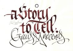 MB A story to tell textur by Luca Barcellona - Calligraphy & Lettering Arts, via Flickr