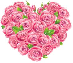 Pink Roses Heart Clipart