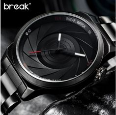 BREAK T25. Модные повседневные водонепроницаемые спортивные наручные кварцевые часы. Фотограф. Глубина водонепроницаемости: 3Bar. Окно шкалы, тип материала: Материал хардлекс. Unisex.
