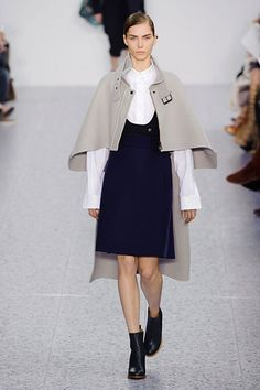 Chloe Fall 2013  Similiar to a cope with an alb underneath (minus the blue dress)