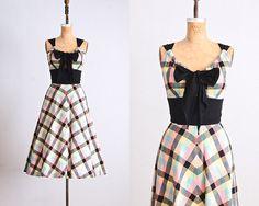 vintage 1950s Cabana Original dress  drawstring by PickledVintage, $345.00