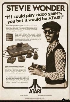 Stevie wonder Atari advertisment from 1977