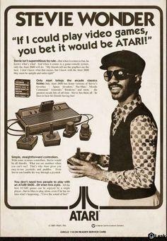 Stevie wonder Atari advertisment from 1977