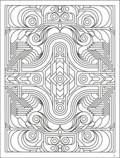 Free Printable Art Deco And Art Nouveau Patterns Collection Free Geometric Coloring Pages For Adults