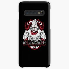 'Strength Be Committed To Yourself Graphic Angry Bull' Case/Skin for Samsung Galaxy by Gym Motivation Quotes, Motivational Quotes, It Works, Strength, Samsung Galaxy, My Arts, Ink, Printed, Awesome