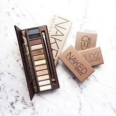 """The Urban Decay Naked palettes that I own ✨ Do I need the Naked 3 and Naked Smoky?  Also, since I'm going overseas in a few weeks it's SO hard not to buy all the new make-up releases at the moment and it's actually so depressing seeing them all over my newsfeed!  So jealous, but so happy at the same time! "" Photo taken by @angiebeautyxo on Instagram"